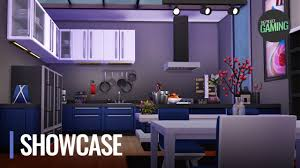 the sims 4 modern blue kitchen build cinematic tour u0026 showcase