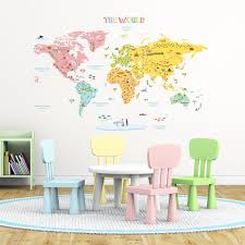 decowall dw 1307 planets in the space kids wall stickers wall decowall dlt 1616n colourful world map kids wall stickers wall decals peel and stick removable