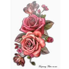100 big rose tattoo wonderful 3d realistic big black and