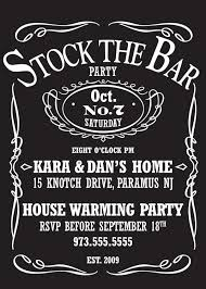 stock the bar invitations stock the bar party for a wedding shower perhaps for the boys