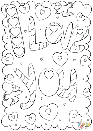 i love you doodle card coloring page free printable coloring pages