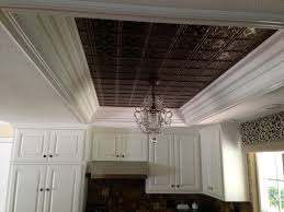 How To Put Up Tin Ceiling Tiles by Kitchen Ceiling Tiles And Hanging Light Replace Dated Fluorescent