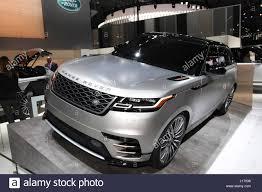 range rover velar shown at the new york international auto show