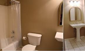 How To Paint Old Bathroom Tile - colored grout and new tile create fresh bathroom look
