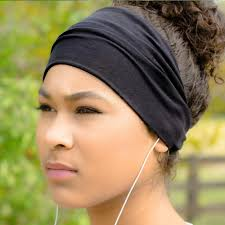 sports headband black headband workout headband running headband specifically