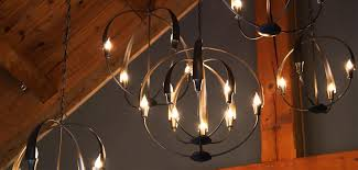 Forged Chandeliers Hubbardton Forge Lighting Vermont Woods Studios Forged
