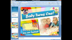 How To Make Birthday Invitation Cards At Home Magicfingers Birthday Invitation Card Using Microsoft Powerpoint