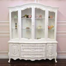 french country china cabinet for sale shabby cottage chic white french style china cabinet hutch roses