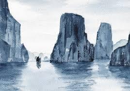 watercolor by douglas winslow ha long bay vietnam the dry brush