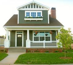 forest green two story bungalow house designs bungalow house