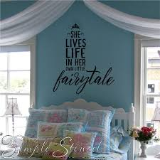 Large Wall Stickers For Living Room by Fairy Tale Princess Custom Wall Quote Lettering Murals U0026 Stencil