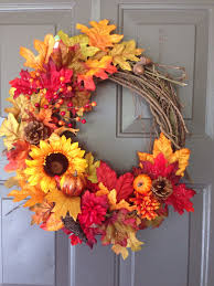 thanksgiving door ideas small thanksgiving wreath ideas mixed with grey wooden door