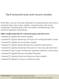 Sample Resume For Prep Cook by Prep Cook Resume Examples Free Resume Example And Writing Download