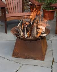 wood burning fire table backyard fire pit rust finish fire bowl wood burning fire pit