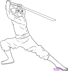 ninja coloring page free download