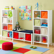 Small Kids Room Bedroom Modern Interior White Wooden Storage For Small Kids Room