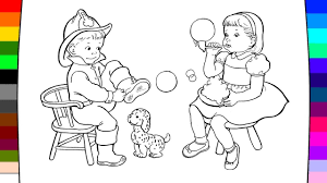 little people coloring coloring page for kids youtube