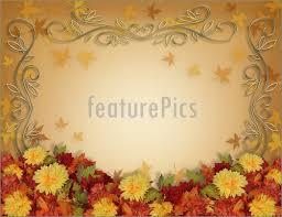 templates fall leaves flowers thanksgiving border stock
