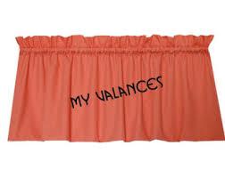 Valance For Bathroom Peach Valance Etsy