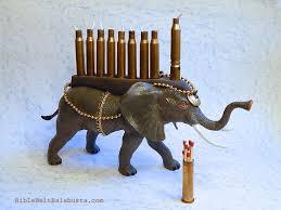 elephant menorah elephant menorah 2 version 2 bible belt balabusta