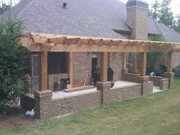 attached pergola designs pergola build over concrete patio on
