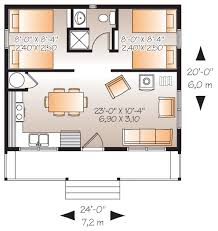 house plan two bedroom cottage 540 square feet and 2 bedrooms