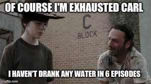Exhausted Meme - meme walking dead am exhausted