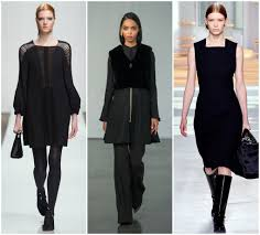 just black fall winter fashion trends