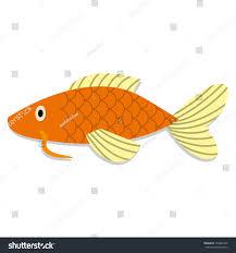 vector cute cartoon orange oriental fish stock vector 153835349