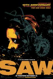 the second poster for the 10th anniversary event of saw reel