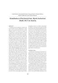 K Henmodelle Distribution Of Bechstein U0027s Bat Myotis Bechsteinii Kuhl 1817