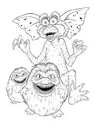 coloring page gremlins