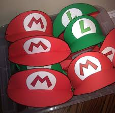 mario and luigi party hats visors maybe this could be