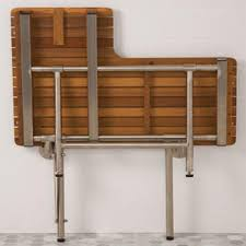 Fold Down Bench Seat Ada Compliant Foldup Teak Shower Seats And Benches