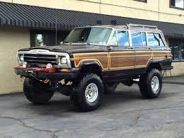 jeep grand wagoneer custom jeep wagoneer suv 1989 burgundy for sale 1j4gs5879kp105552 1989