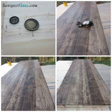 How To Make A Wooden Kitchen Table Top by Best 25 Reclaimed Wood Countertop Ideas On Pinterest Copper