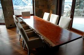 Amazing Classic Solid Wood Dining Table In Rustic House  Dining Room - Stone kitchen table