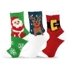 fuzzy christmas socks teehee christmas cozy fuzzy crew socks 3 pack for women