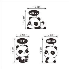 Panda Nursery Decor by Aliexpress Com Buy 3pc Switch Panda Cartoon Wall Sticker Light