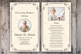 prayer cards for funerals funeral prayer card template v660 card templates creative market