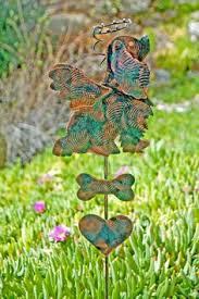 Sheet Metal Garden Art - cocker spaniel garden stake pet memorial garden copper art