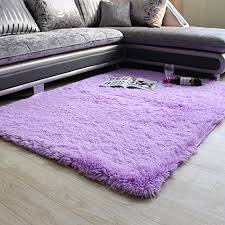 fadfay super soft modern shag area rugs purple living room carpet