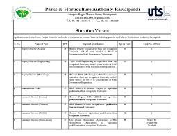Jobs Economics Degree by Pakistan Horticulture Agency Jobs Rawalpindi 2017 Newspaper Jobs