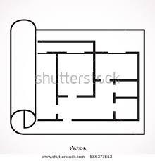 Icon Floor Plan Floor Plan Icon Vector Stock Vector 516739993 Shutterstock