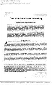case study research in accounting pdf download available