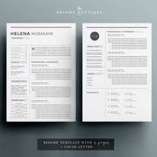 check out resume cv u0026 cover letter template by blissful pixels on
