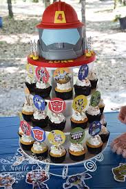 transformers rescue bots 1 edible cake or cupcake topper edible rescue bots cake and cupcakes by k noelle cakes cakes by k