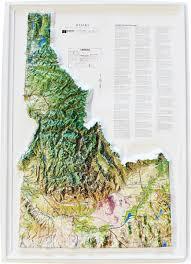 Idaho On Map Buy Idaho Relief Map Flagline
