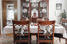 decorated tables for christmas barrel back dining chair round