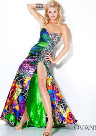 colorful dress jovani colorful print prom dress with crystals 9636 novelty